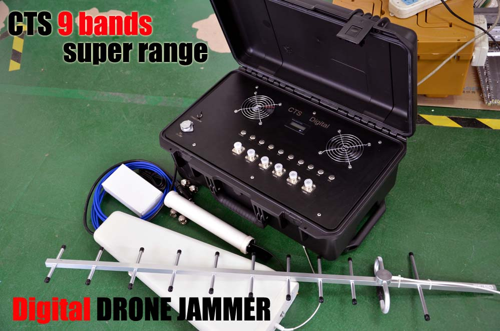 Digital Military anti drone jammers drone jamming device  for 310~470Mhz 800MHZ 900mHZ gps & glonass and wifi